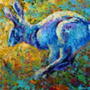 Running Hare Art Print