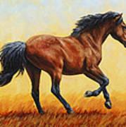 Running Horse - Evening Fire Art Print