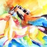 Running Horses Color Art Print