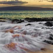 Running Wave At Keawakapu Beach Art Print