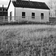 Rural Church Black And White Art Print