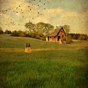 Rural Cottage Art Print by Jill Battaglia
