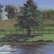 Rural Landscape Painting Of Bauer Farm Art Print