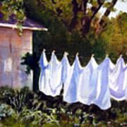 Rural Laundromat Art Print