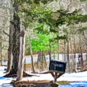 Rural Mailbox In The Snow 1 Art Print