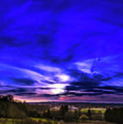 Rural Sunset Panorama Art Print