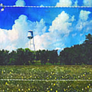 Rural Water Tower Unconventional Art Print