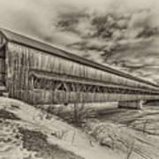 Rusagonish Covered Bridge Art Print