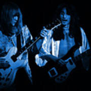 Rush 77 #46 Enhanced In Blue Art Print