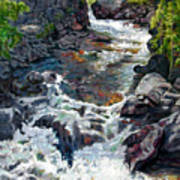 Rushing Waters Art Print by John Lautermilch