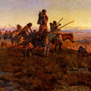 Russell Charles Marion In The Wake Of The Buffalo Hunters Art Print