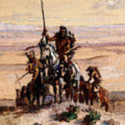 Russell Charles Marion Indians On Plains Art Print