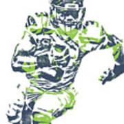 Russell Wilson Seattle Seahawks Pixel Art 12 Art Print