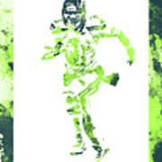 Russell Wilson Seattle Seahawks Water Color Art 1 Art Print