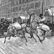 Russia: Troika, 1888 Art Print