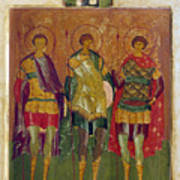 Russian Icon: Saints Art Print