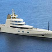 Russian Mega Yacht  A - St Lucia Art Print