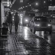Russian Street Scene At Night 2015 Art Print