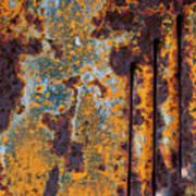 Rust Abstract Car Part Art Print