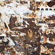 Rust And Torn Paper Posters Art Print