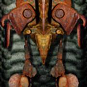 Rust Bone Totem Art Print