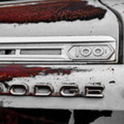 Rust Dodge 6 Selective Color Art Print