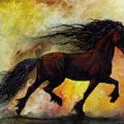 Rust Unicorn Art Print