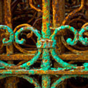 Rusted Gates Art Print