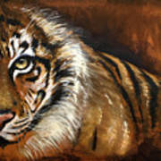 Rusted Tiger Art Print