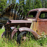 Rusted Truck Art Print