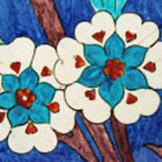 Rustem Pasha Mosque Flower Tile Art Print