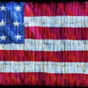 Rustic American Flag Art Print