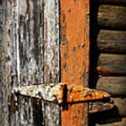 Rustic Barn Hinge Art Print