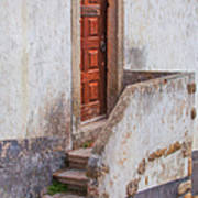 Rustic Brown Door Of Portugal Art Print
