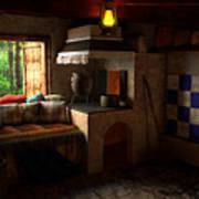 Rustic Cabin Art Print