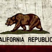Rustic California State Flag Design Art Print