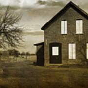Rustic County Farm House Art Print