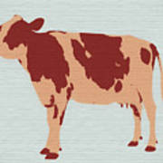 Rustic Cow Art Print