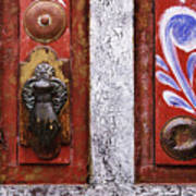 Rustic Door Art Print by Jeremy Woodhouse