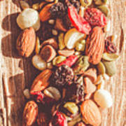 Rustic Dried Fruit And Nut Mix Art Print