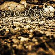 Rustic Mountain Bikes Art Print