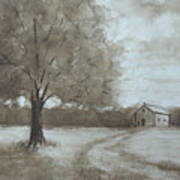 Rustic Ridge Art Print
