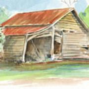Rustic Southern Barn Art Print