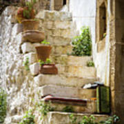 Rustic Steps In Crete Art Print