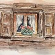 Rustic Window Art Print