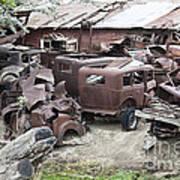Rusting Antique Cars Art Print