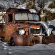 Rusting In Winter Art Print