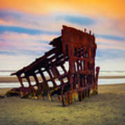 Rusting Shipwreck Art Print