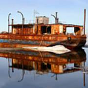 Rusty Barge Art Print