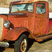 Rusty Chevrolet Pickup Truck 1934 Art Print